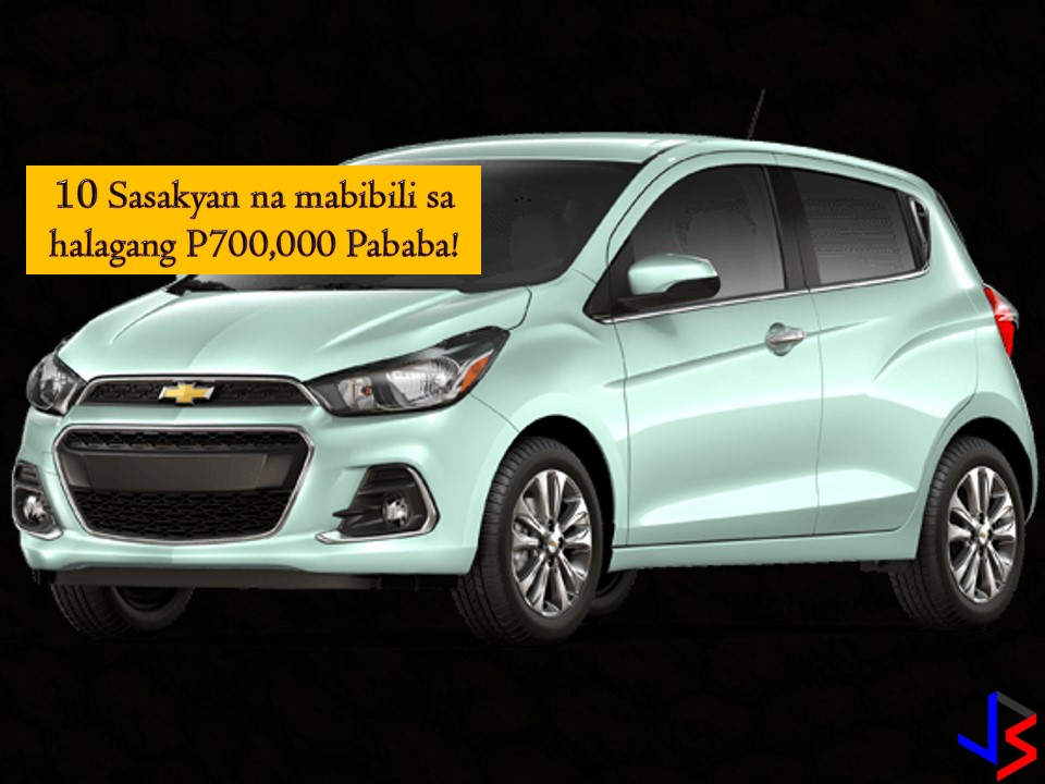 Looking for 'Affordable' Cars? Here are 20 Cars You Can Buy Below P700,000  It is a dream of many to have a car. Aside from the house, a car may be one of the most expensive buys of a person. In spite of the increasing oil prices as well as prices of cars due to taxes, still many people are interested in acquiring a car! Whether it is for personal or family use or for your growing business, undoubtedly, having a vehicle can make your life convenient and easy. With the increase in almost all products and services nowadays, you may ask yourself, can I afford to buy a car? Or is there any affordable cars on the market that may suit my budget? Well, if you are a cost-conscious buyer and planning to buy a car, this post might help you. The following are 20 vehicles you can buy with your budget below P700,000 according to moneymax.ph!  1. Tata Ace Cab and Chassis For only P360,000 plus this Tata Ace is one of the cheapest vehicles you can have in the Philippines. The maker is Tata Motors, the largest automobile manufacturer in India!  Tata Ace Key Specifications Body type: Mini-truck Transmission type: Manual Engine: 0.7L 702 cc Performance: 16hp and 38Nm Fuel type: Diesel Fuel economy: 15.15 km/L  Price: Starts at PHP 360,000  2. Suzuki Alto 800  This is surprising for some. This Alto 800 is only less than P500,000. A practical choice for a family with five members!  Suzuki Alto 800 Key Specs Body type: Hatchback Seating capacity: Five Transmission type: Manual Engine: SOHC 3-cylinder 12-valve with displacement of 796 (0.8L) cc Performance: 47hp and 68Nm Fuel type: Gasoline Fuel economy: 24.81 km/L  Price (as of May 22, 2018): PHP 445,000  3. Suzuki Super Carry It is an affordable utility vehicle you can have for less than P600,000. You can choose from a pick, a cargo van, and a utility van. Ideal for commercial use or for your business.   Suzuki Super Carry Key Specs Body types: Pick-up / Cargo Van / Utility Van Seating capacity: a. Pick-up and cargo van: Two b. Utility