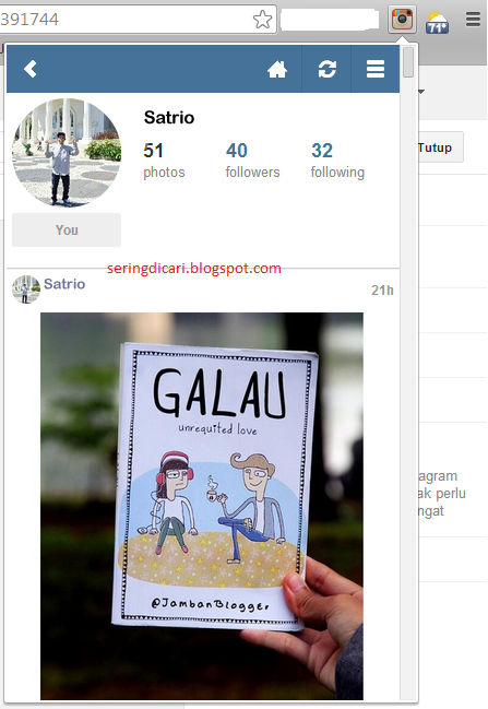 Cara upload foto ke instagram lewat komputer / laptop