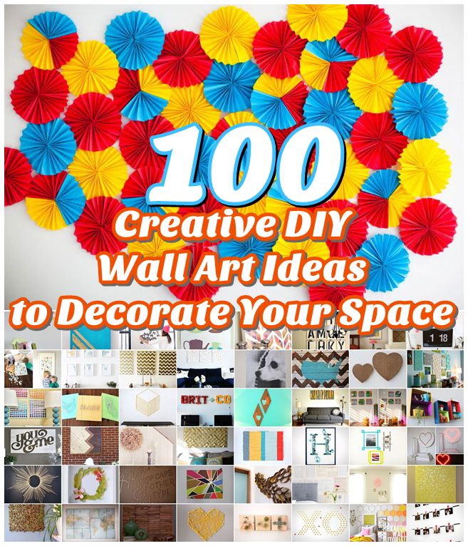 100 Creative DIY Wall Art Ideas to Decorate Your Space ... on Creative:kqmwrvdqiag= Wall Art Ideas  id=76319