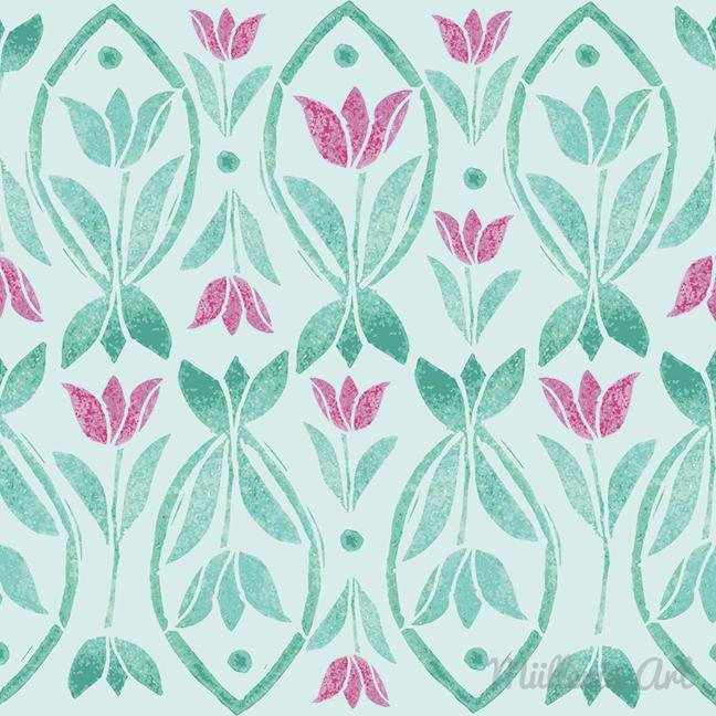 Tulpenfisch Muster © Müllerin Art