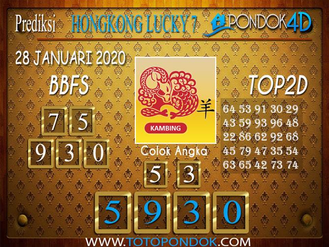 Prediksi Togel HONGKONG LUCKY7 PONDOK4D 28 JANUARI 2020