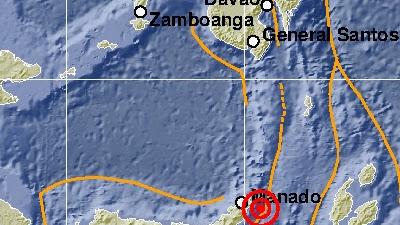Gempa Bumi Berkekuatan 5,6 Magnitudo Mengguncang Kota Manado, Sulawesi Utara