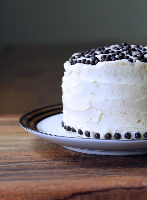 Mini White Chocolate Birthday Cake from Karen's Kitchen Stories