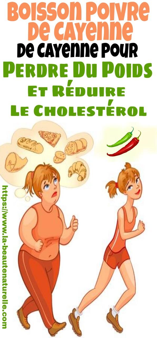 Boisson poivre de Cayenne pour perdre du poids et réduire le cholestérol