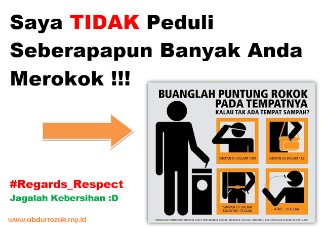 Design Stiker Warning Jangan Merokok Disini