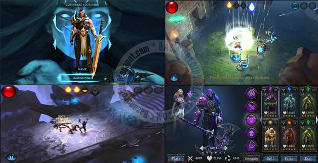 BladeBound Action RPG Mod Unlimited Gems Money Apk data Obb v0.55.06 Terbaru