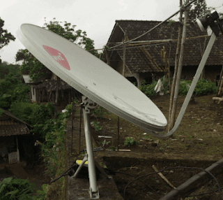 Cara Tracking Telkom 3s Ku-band Transvision