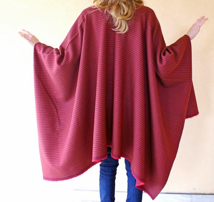 wool overcoat cape diy blanket