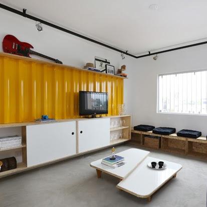 Espaços bem aproveitados em apartamento de 56 m²