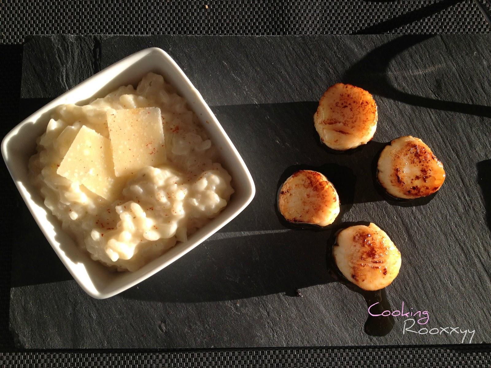 cookingrooxxyy risotto cr meux au parmesan et saint jacques po l es. Black Bedroom Furniture Sets. Home Design Ideas
