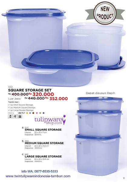 Promo Diskon Mei 2018, Square Storage Set