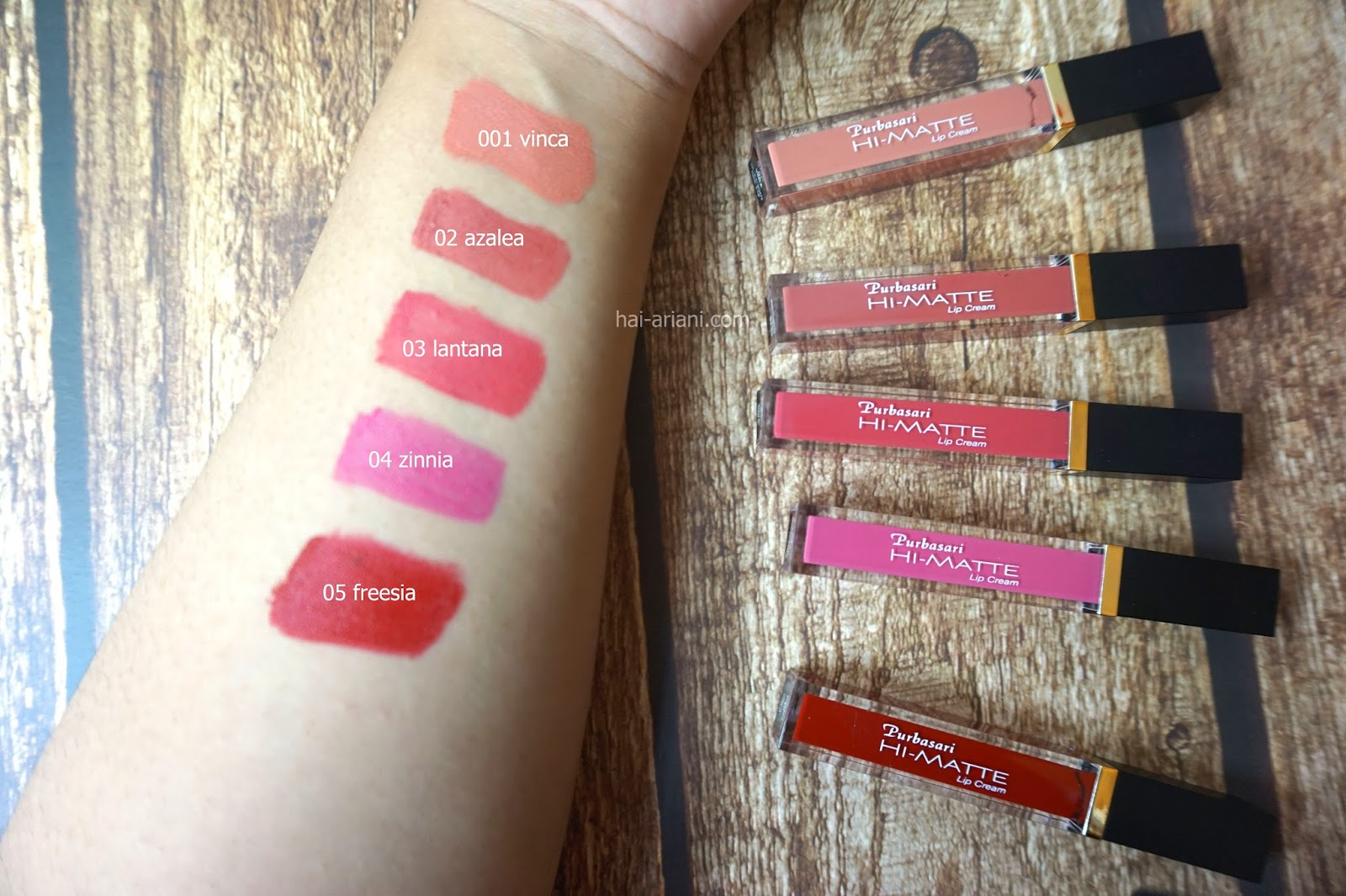 purbasari lip cream matte