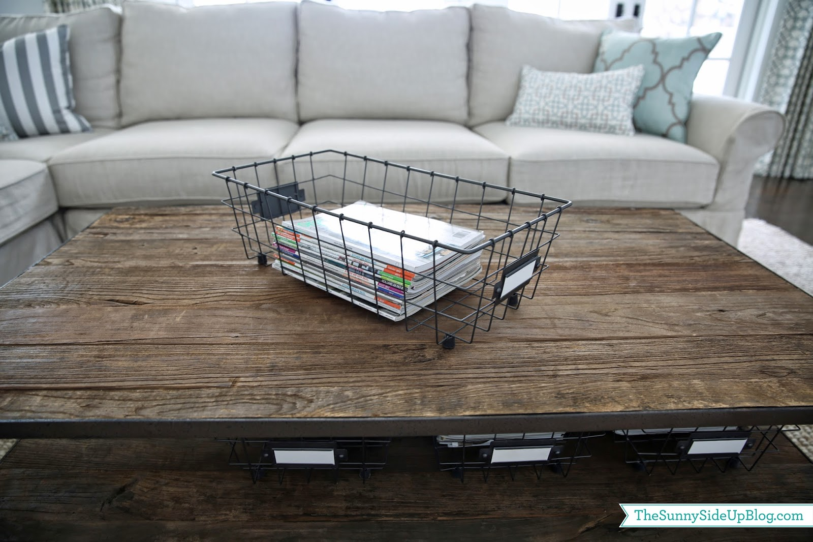 Since I Aim To Please And Because You Don T Have Twist My Arm Chat About Organizing With Baskets Here Is A Post On Coffee Table