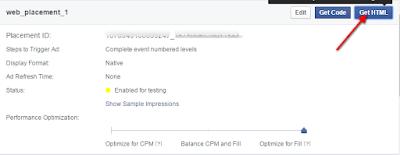 Monetisasi Blog Dengan Menampilkan Iklan Dari Facebook - Get HTML
