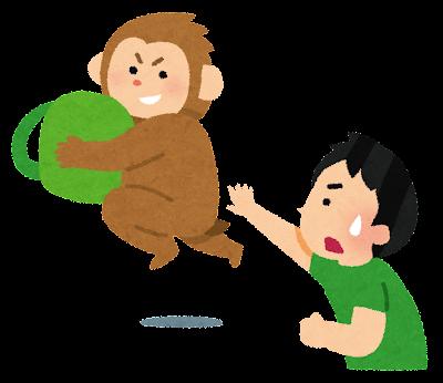 猿のいたずらのイラスト