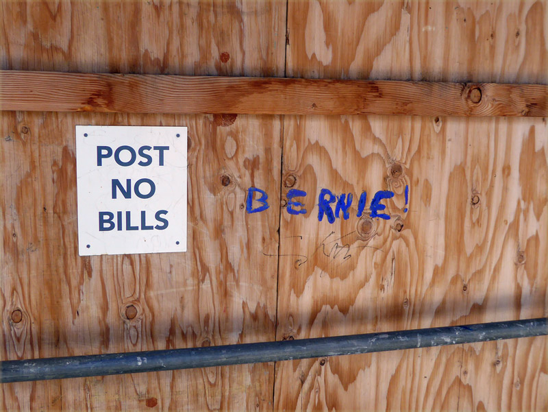 Post No Bills Bernie - graffiti near USC