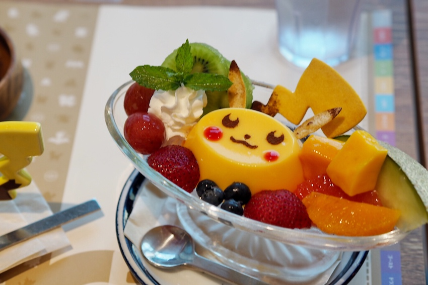 Pokemon Cafe pikachu dessert