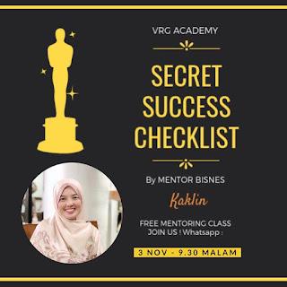 Secret Sucess Checklist Shaklee