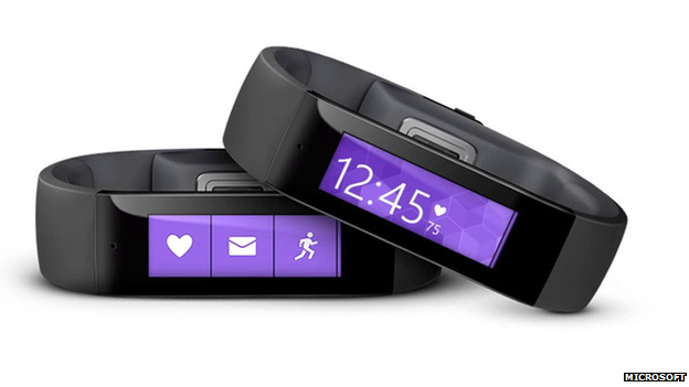 Review of Microsoft's Band wearable - a fitness tracker