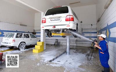 احذر من تغطية هذه المساحه عند غسيلك لاطارات السياره بالضغط العالى