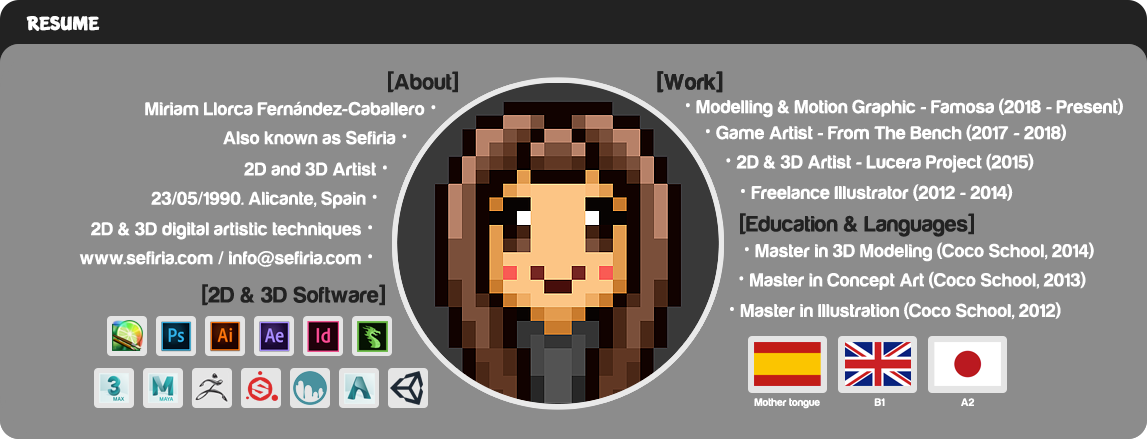 Sefiria - 2D and 3D Artist