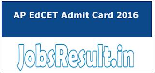 AP EdCET Admit Card 2016