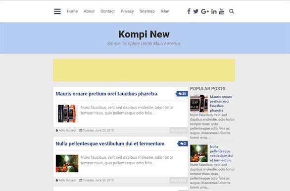 Free Blogger Template - Kompi New