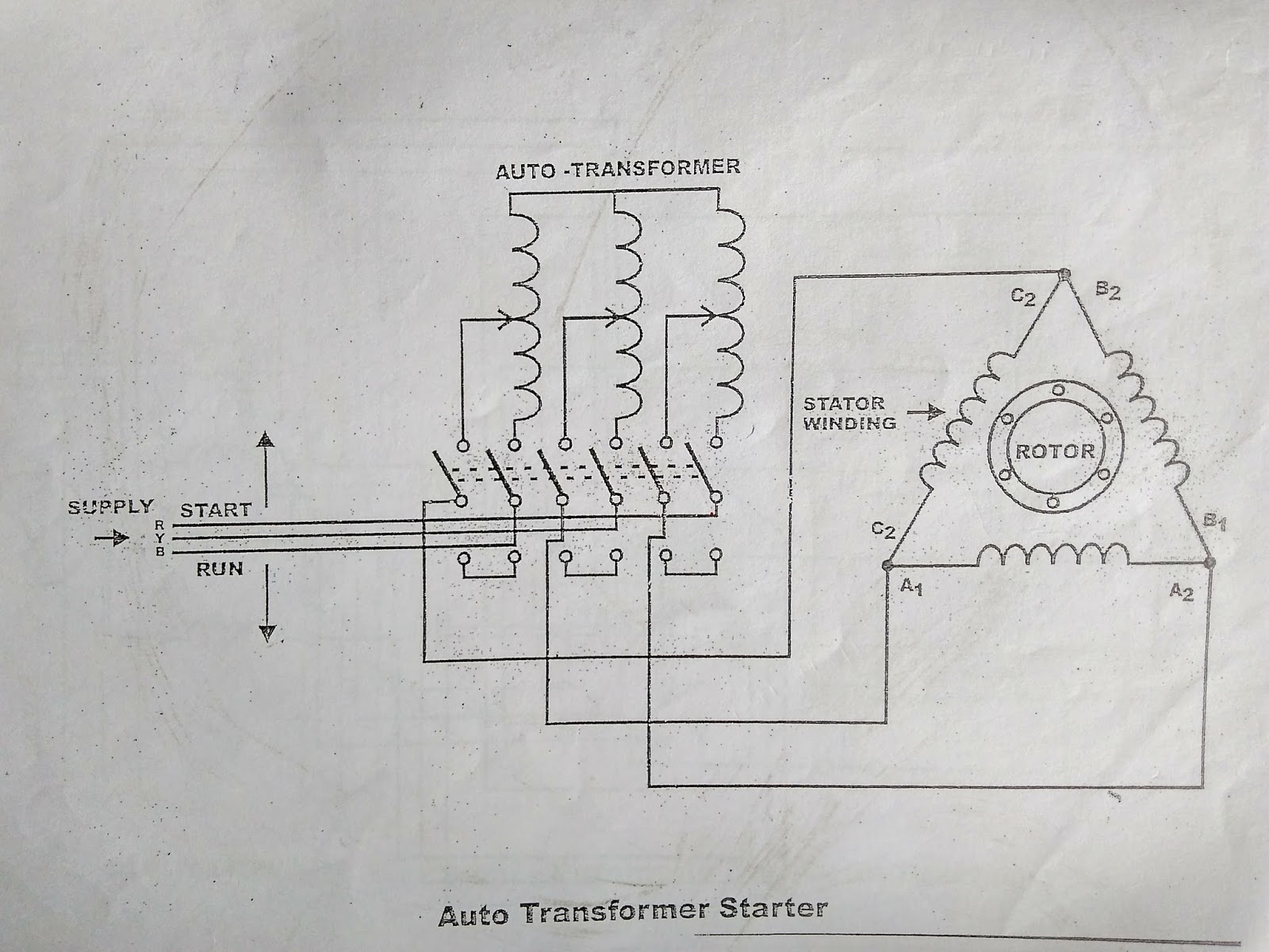 Autotransformer Starter Working Wiring And Control Diagram Of Star Delta With Timer
