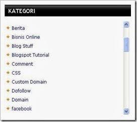 Cara Membuat Sroll Label Atau Categori Blogspot Terbaru