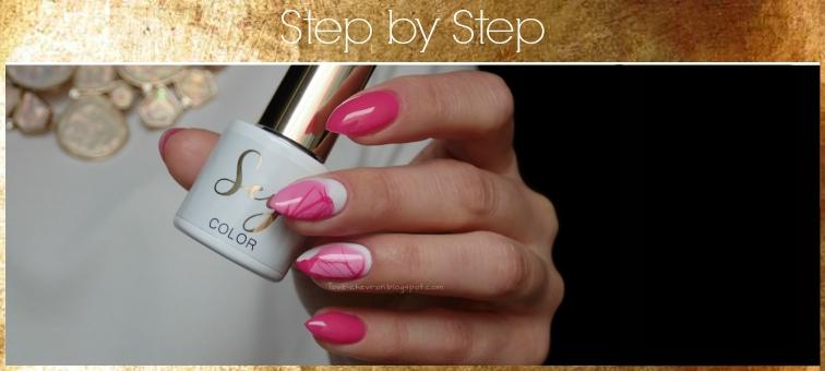 Cosmetics Zone | Sey | s162 Charming Pink | s001 Pure White | zdobienie lakier na wodzie | neonowe paznokcie | różowe paznokcie | zdobienie na paznokciach | zdobienia na migdałkach | paznokcie na lato | water marble | water marbling | Hean | I love Hean 877 |