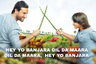 Banjara  from Chef: is sung by Vishal Dadlani composed by Raghu Dixit and lyricsted by Ankur Tewari. Music video is featured by Saif Ali Khan, Svar Kamble and Chandan Roy Sanyal.