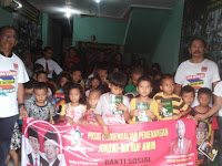 Forum Kalimantan Barat & Pusdal Soksi Lakukan Baksos Kepada Anak anak Sekolah