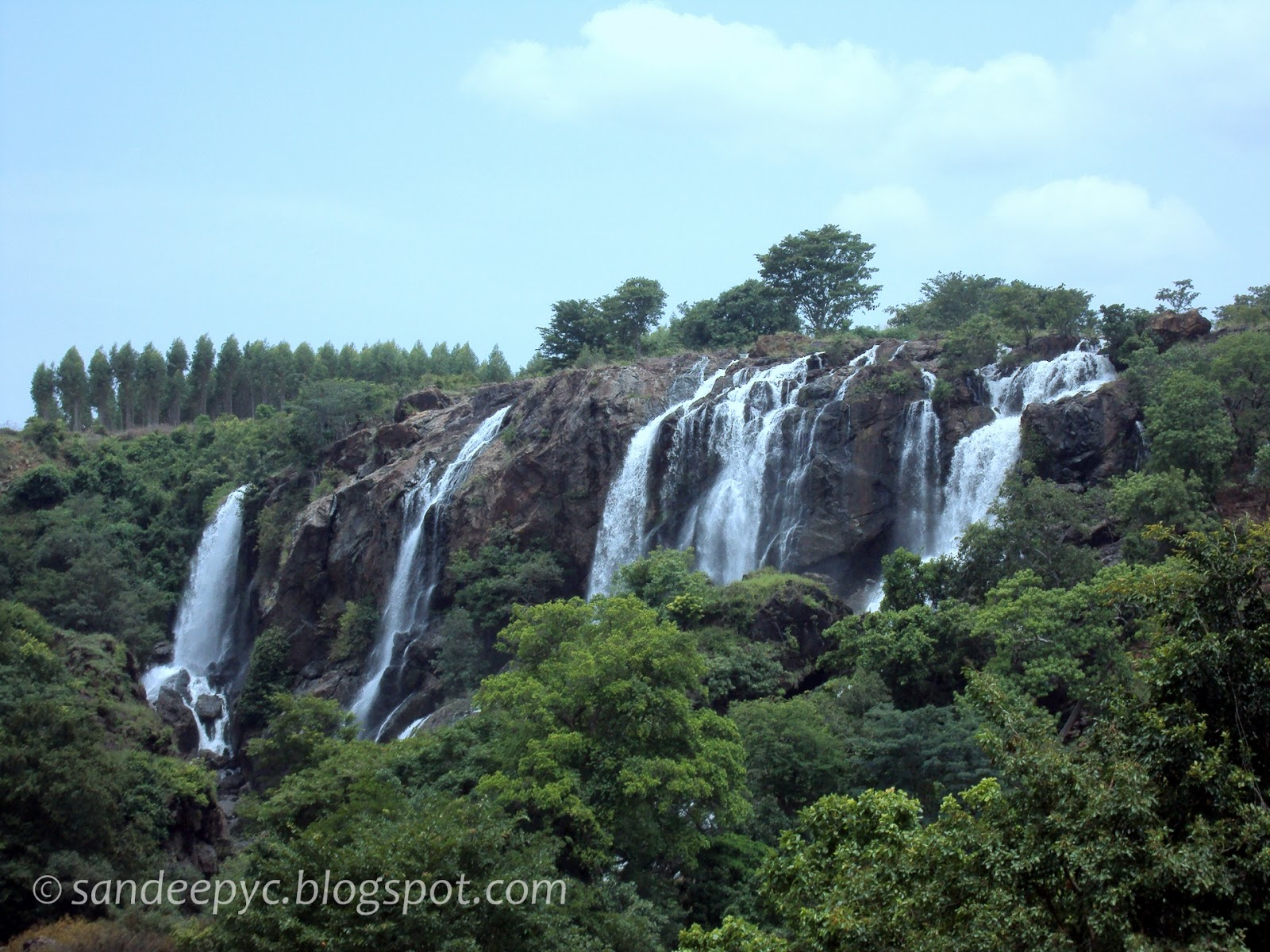 (From left) Bharachukki falls part 1