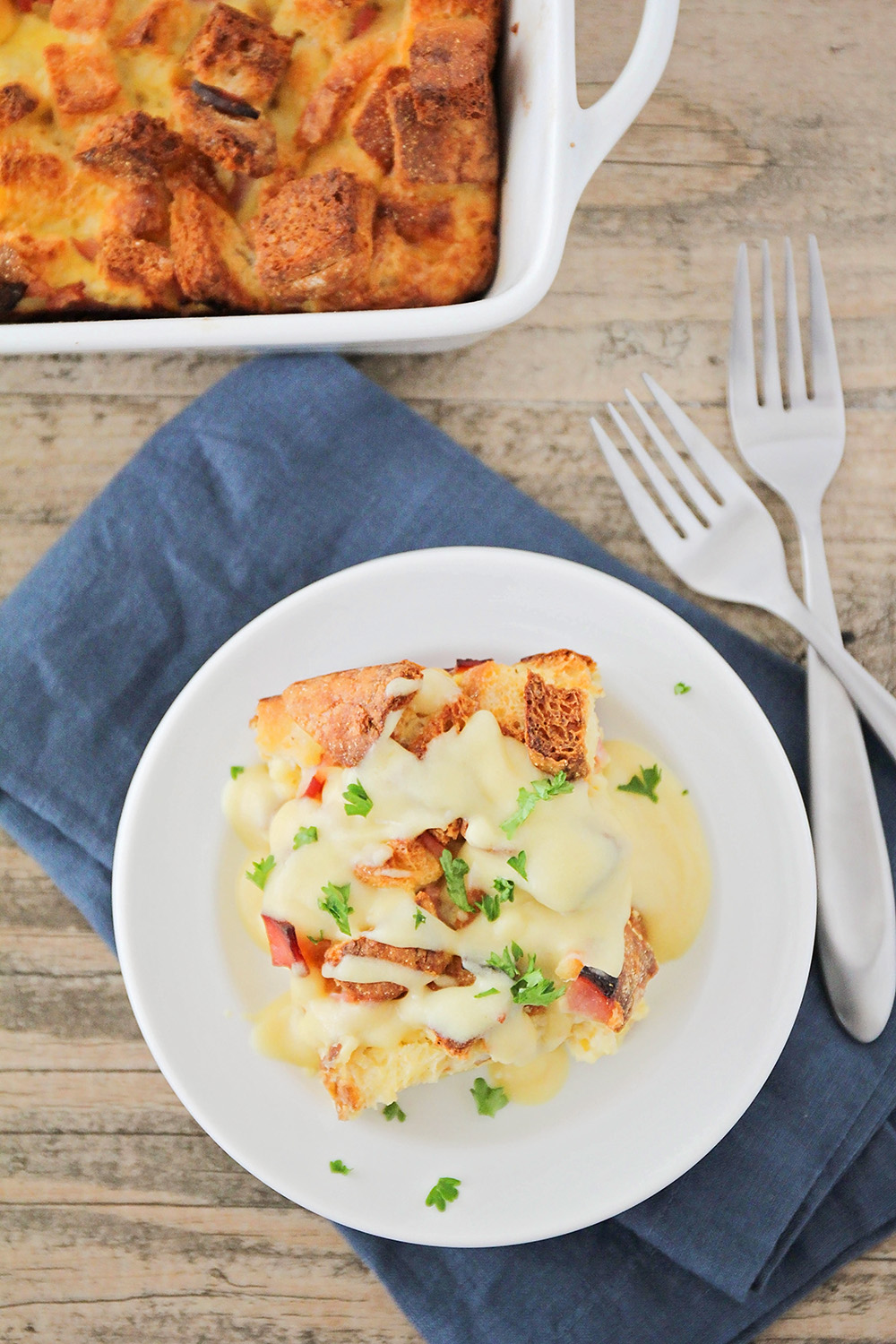 This delicious and savory eggs benedict casserole is the perfect special occasion breakfast!