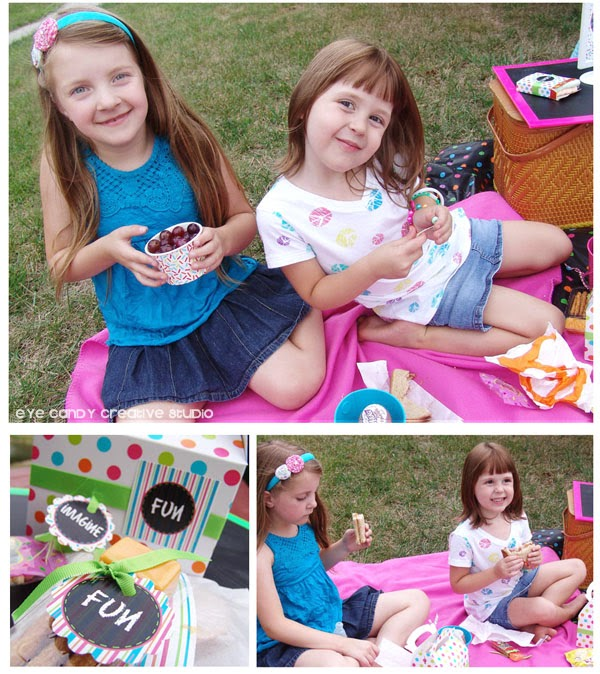 art party picnic food ideas, kids art party, kids boxed lunch ideas