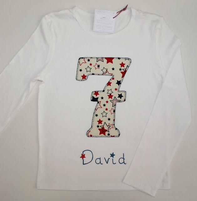 camiseta de cumpleaños 7 años