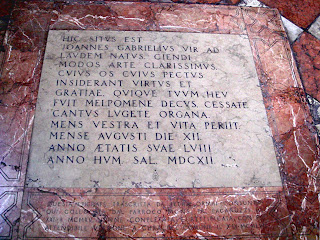 The tomb of Giovanni Gabrieli in the Church of Santo Stefano in the San Marco district of Venice