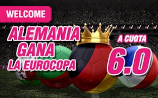 wanabet supercuota 6 Alemania gana Euro2016 + 150 euros codigo JRVM 7 julio