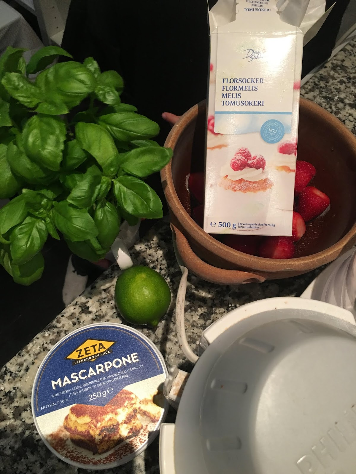 hemmagjord glass med mascarpone