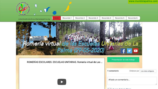 El Colectivo de Escuelas Unitarias de La Palma presenta su romería virtual a celebrar el 29 de mayo de 2020