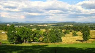 Augusta County, Virginia Countryside, View from Parsassus
