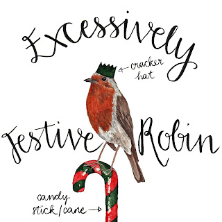 Festive Robin by Alice Draws The Line