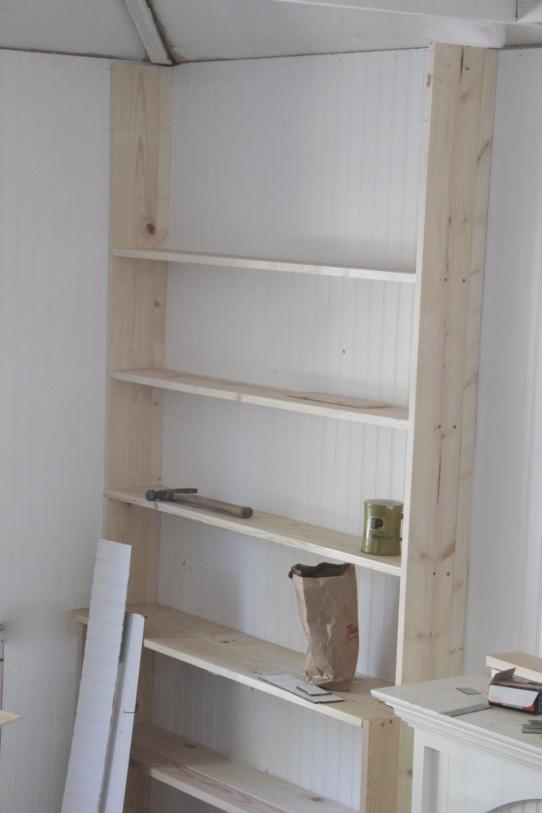 Building bookshelves french country cottage - What did the wall say to the bookcase ...