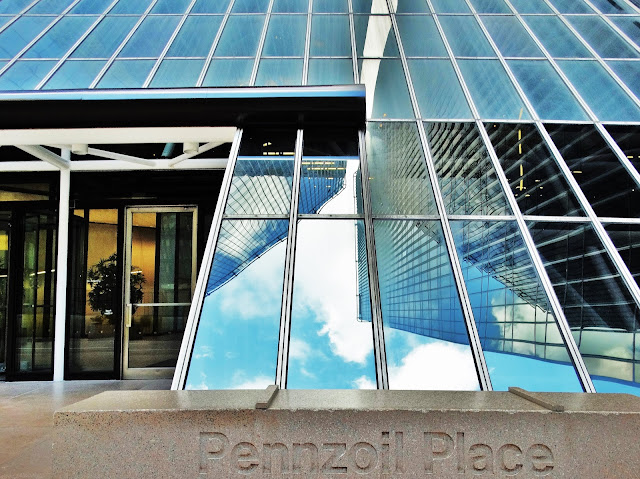 Pennzoil Place building entrance at street level