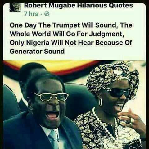Robert Mugabe has one word for Nigerians today