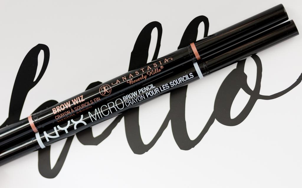 Anastasia Beverly Hills Brow Wiz vs. Nyx Micro Brow Pencil