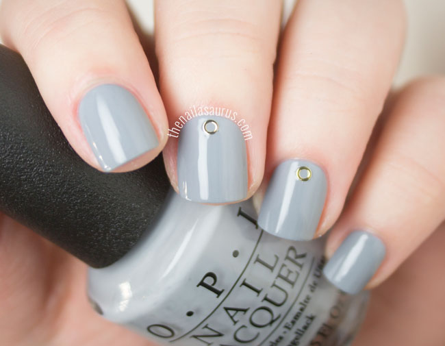 OPI 50 Shades of Grey Collection Cement The Deal Swatch