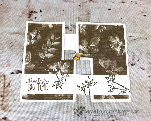 the easy Impossible card, Animal Outing, Fun Fold, Stampin'Up!, Frenchiestamps,