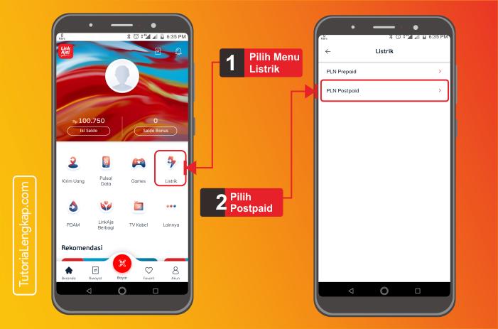 tutorialengkap 2 cara bayar listrik online melalui aplikasi LinkAja di android