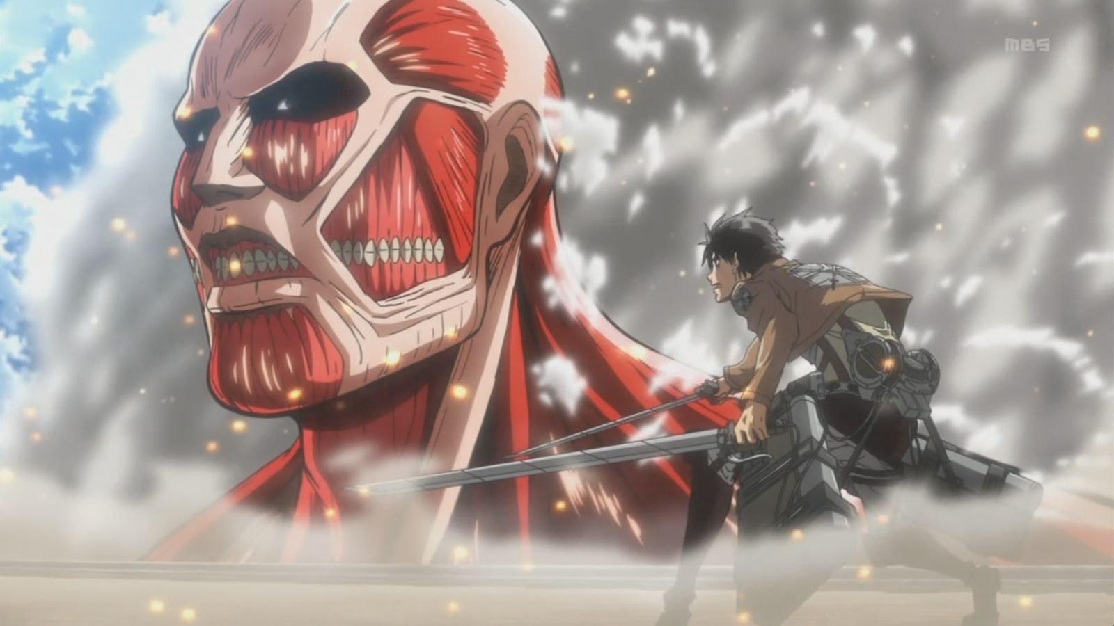shingeki no kyojin eren vs titan